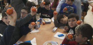 Nun colexio de Cambados, os alumnos aprenderon hoxe a mellora-lo seu almorzo. É a primeira comida do día e a máis importante, polo que os nutricionistas recomendan unha boa inxesta de froita e lácteos para facer máis levadeiras as horas de clase.